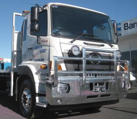 GH - FM model Hino heavy duty FUPS alloy bullbar     #1
