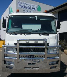Fuso FV Heavy Fups Alloy Bullbar with Tow Pin