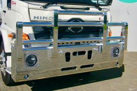 Hino GH500 1828 Bullbar Polished Hi-Tensile Aluminium Bull Bar     #6