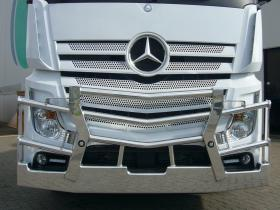 Mercedes Actros FUPS compliant polished alumium custom built bullbar    #6