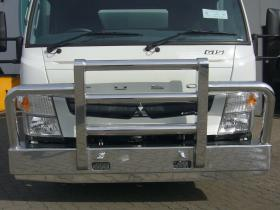 Fuso Canter Wide Body 615 polished custom aluminium bullbar                     #16