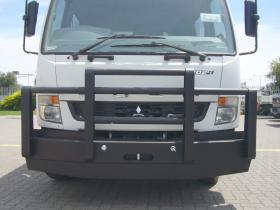 Fuso Fighter powder coated custom built steel bullbar.      #17